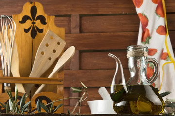Olive oil in the kitchen