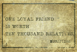 loyal friend print poster