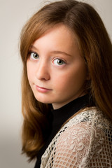 Ginger Teenage Girl in the Studio
