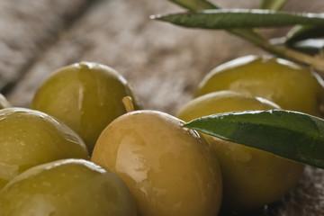Olives closeup photo
