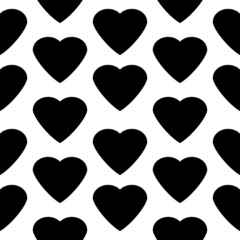 Love heart seamless pattern.