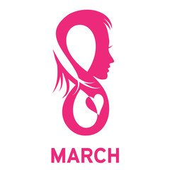 Vector sign 8 march, women's day