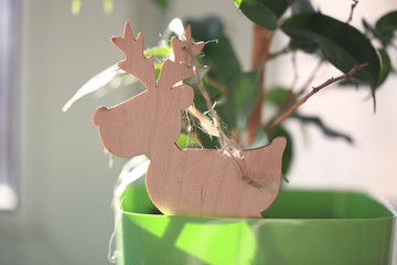 homemade deer new year christmas toy decoration