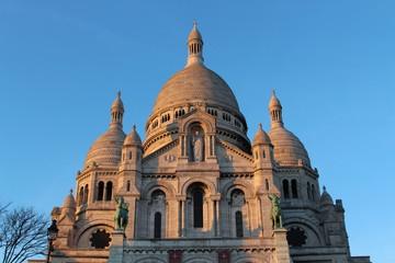 Front view of Sacré Coeur Basilica at Mont Martre in Paris
