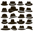 Set of 20 icons of men's hats - 78152586
