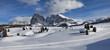 Leinwandbild Motiv Dolomiten im Winter