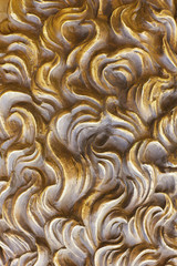 Background from yellow smooth decorative plaster - Stock Image