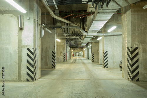 Underground city parking. - 78153541