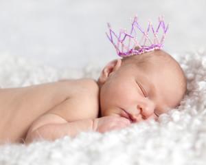 Portrait of cute sleeping newborn girl