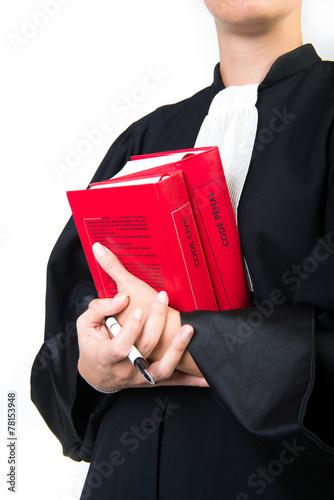 Leinwanddruck Bild avocat et codes de justice