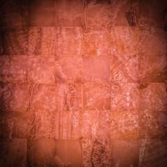 Reddish stone mosaic