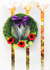 Remembrance Wreath,  Vertical High Key