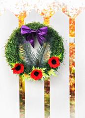Remembrance Wreath,  Vertical High Key