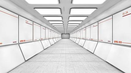 Futuristic interior structure