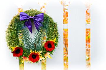 Remembrance Wreath, High Key