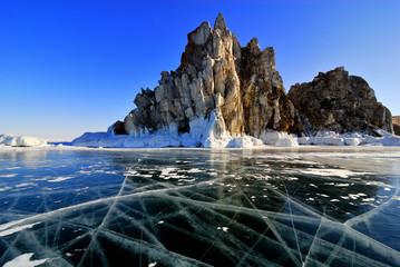 Lake Baikal winter view