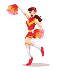 Vector cheerleader illustration
