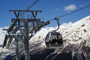 cable car, ski lift,