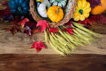 Cornucopia on Harvest Table - Partial