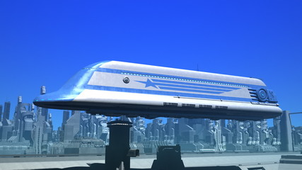 Space Passenger Liner Taking Off (Day)