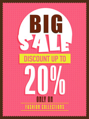 Big sale flyer, banner or poster with discount offer.