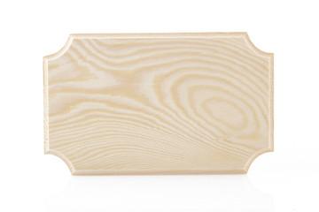 Étiquette en bois