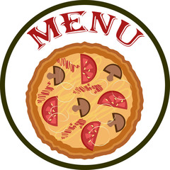 Menu pizza.