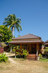 Tropical style bungalow on the beach