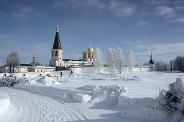 Iversky monastery in the snow