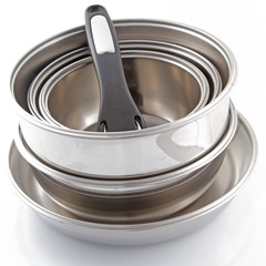 Batterie de cuisine inox empilable