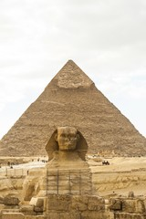 Egyptian Sphinx and Pyramid