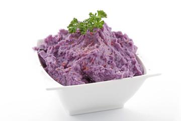 Purée de pommes de terre Vitelotte