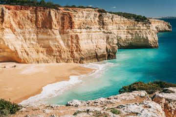 Benagil beach in Algarve, Portugal.