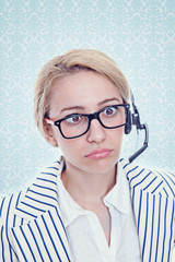 Frustrated Call Center Representative