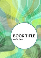 Book, brochure or flyer design with waved overlapping strips