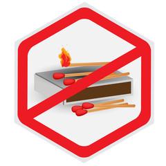 No, fires, allowed, matches, symbol, hexagon