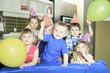 Obrazy na płótnie, fototapety, zdjęcia, fotoobrazy drukowane : A Birthday Party only with the kids.