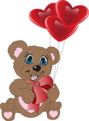 Teddy & heart