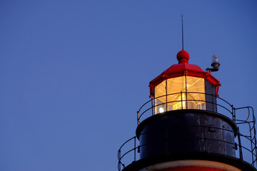 The Warm glow of the W Quoddy Lighthouse at Dusk