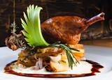 Duck pestle with potato. confit. - 78162574