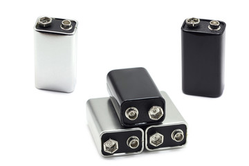 some salt batteries on a white background