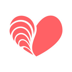 heart vintage vector logo