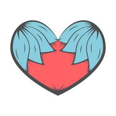 vintage heart vector tatoo