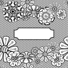 Vector Zentangle Frame - Hand Drawn. Vector pattern.