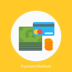 Flat design concept for Payment Methods