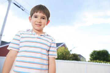 closeup of cute young teen boy smiling