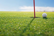 Leinwandbild Motiv golf red hole