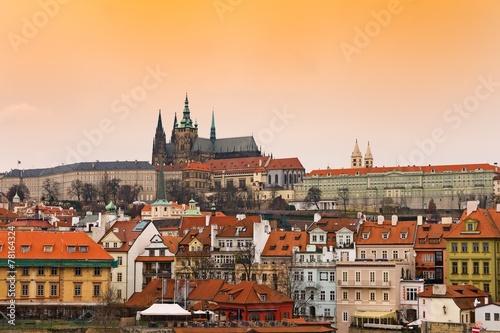 View of Prague Castle district - Hradčany