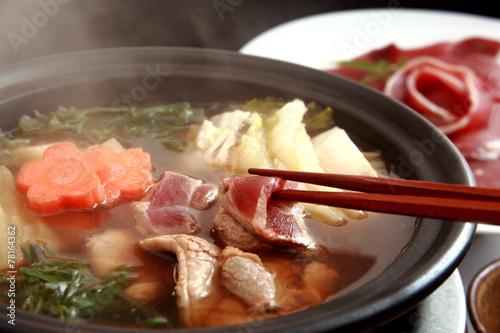 Foto op Plexiglas Japan ぼたん鍋 猪鍋