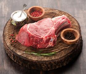 Raw meat Ribeye steak entrecote